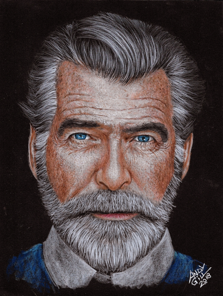 Pierce Brosnan by AndyGill
